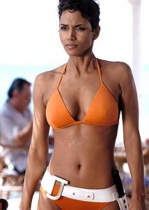 halle berry orange bikini james bond