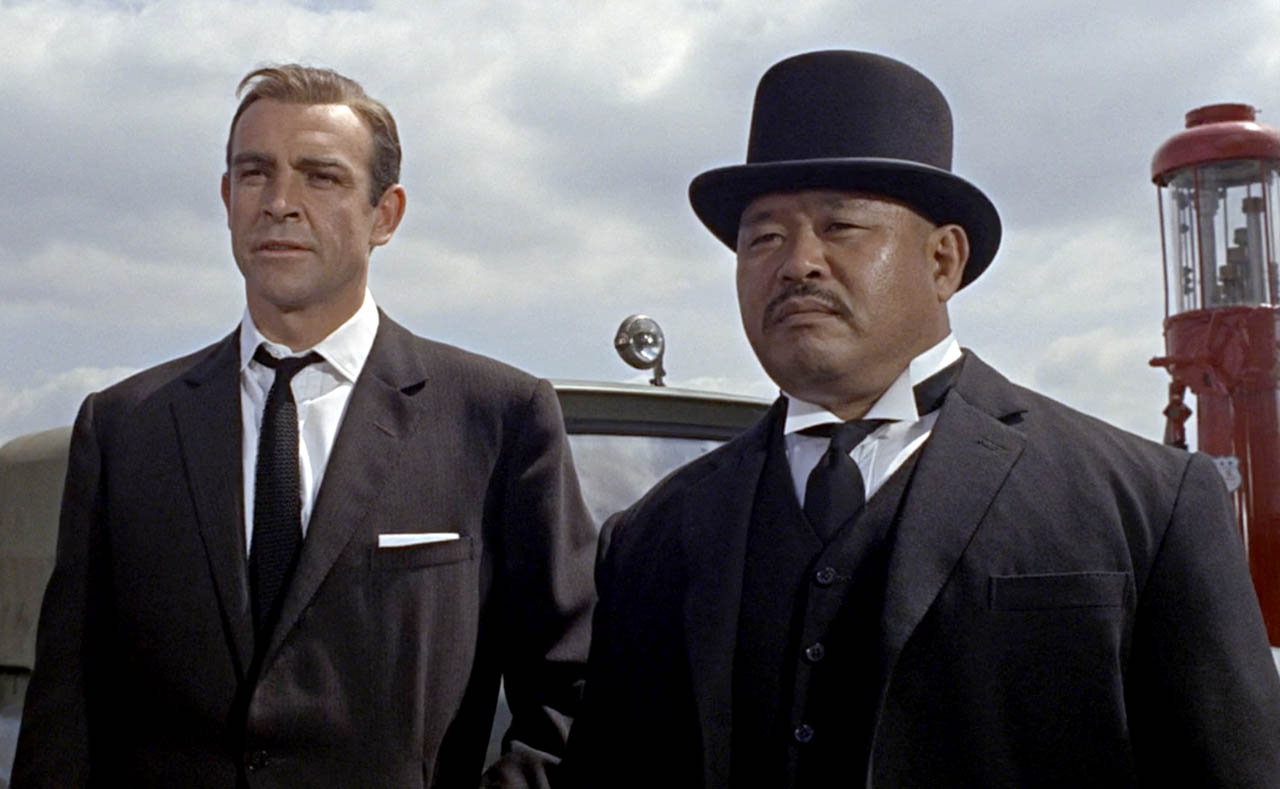 James Bond & OddJob in Goldfinger 1964